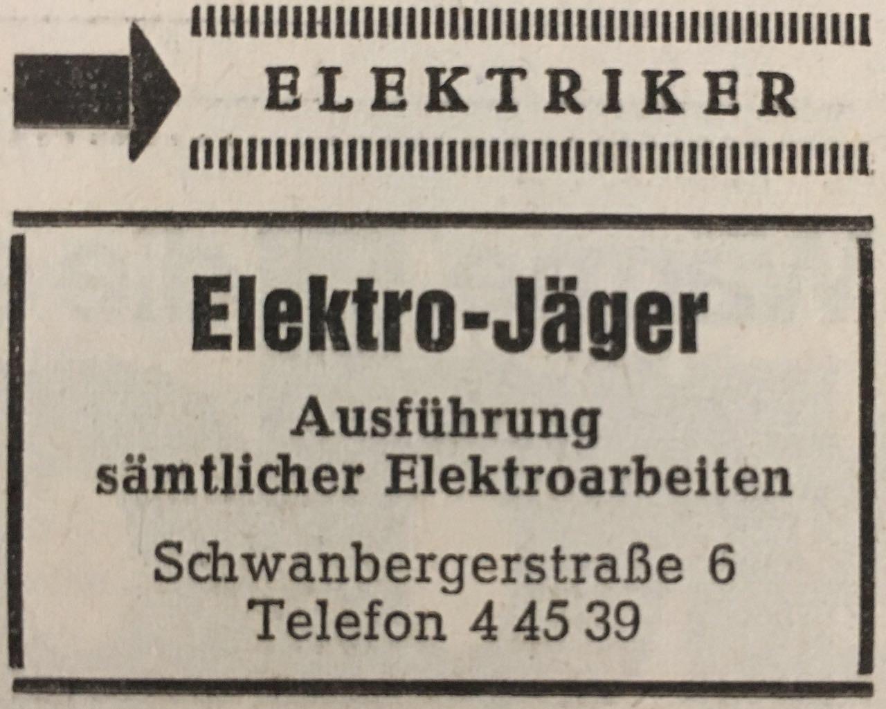 Firmenwerbung um 1976