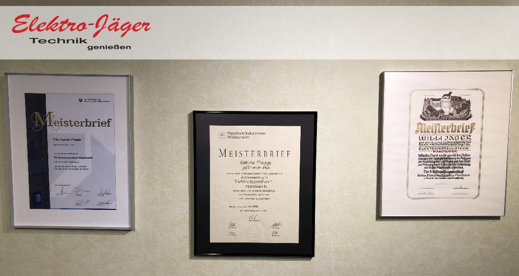 Meisterbriefe der 3 Generationen